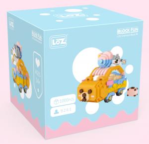 Bear Car (diamond  blocks)
