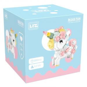 Cherry Blossom Unicorn  (diamond blocks)