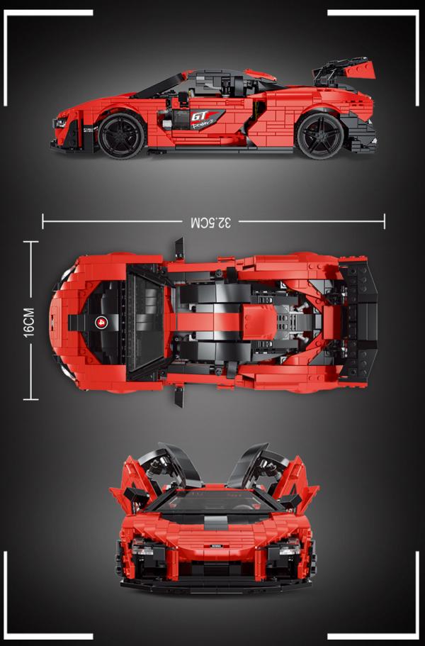 Supersportwagen in rot