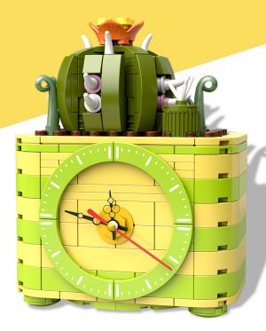 Kaktus im Blumentopf inkl. Uhr