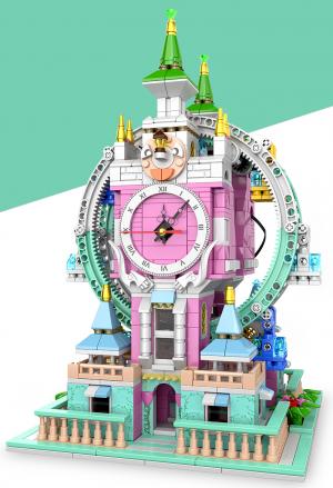 Ferris wheel incl. clock