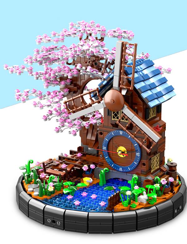 Windmühle inkl. Uhr