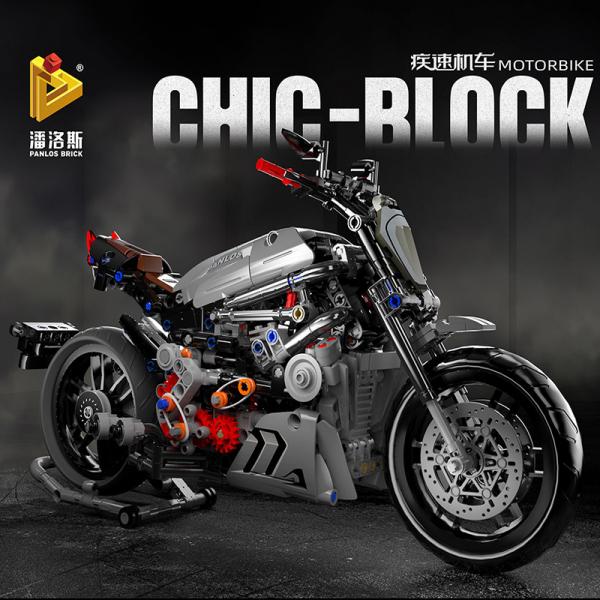 Motorrad in grau