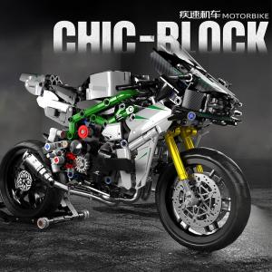 Motorbike in grey