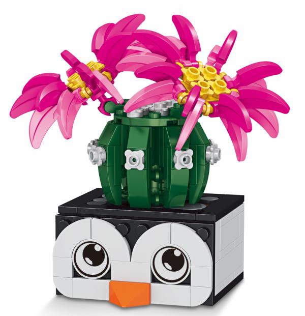 Kaktus im Pinguin-Topf
