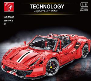 Super car in red