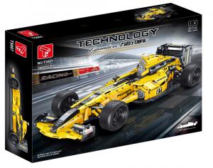 Formel Wagen in gelb