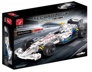 Formel Wagen in weiß