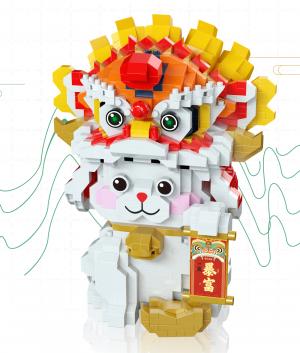 Lucky- and Treasure Cat (Diamond Blocks)
