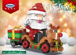 Der Weihnachtsmann fährt ein Rentierauto