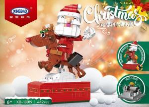 Der Weihnachtsmann reitet auf einem Rentier - Musikbox