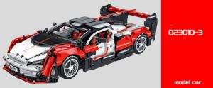 Sportwagen in weiß/rot