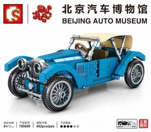 Oldtimer Cabrio blau