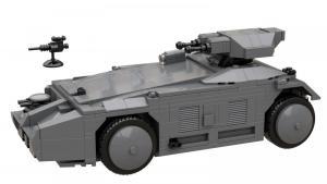 Science-Fiction gepanzerter Mannschaftstransporter (APC)