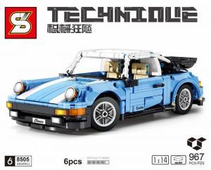 Super car in light blue