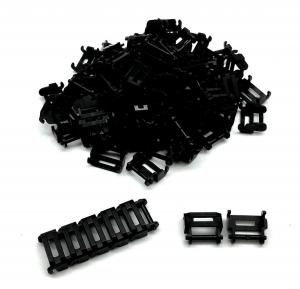 Track Link 1 and 1/2 wide, Black (100pcs)