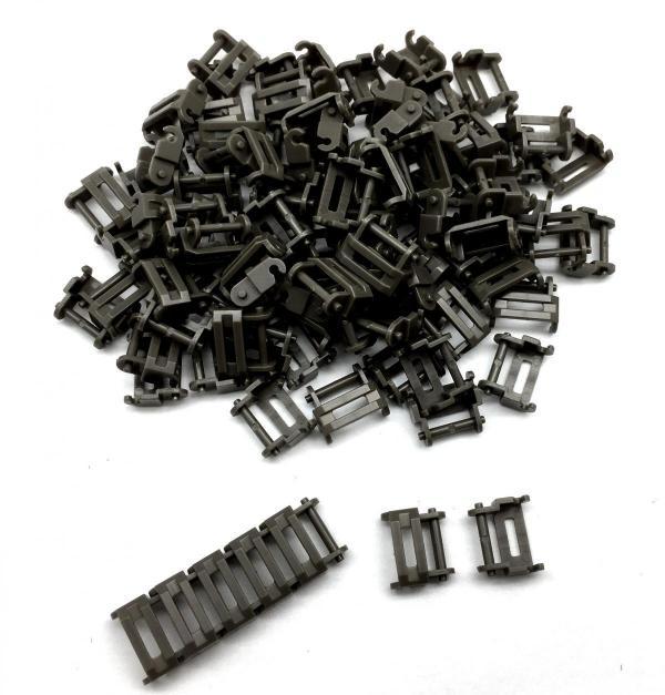 Panzerketten 1 1/2 breit, grau (100st.)