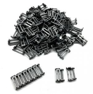 Track Link 2 wide, Dark Silver (100pcs)