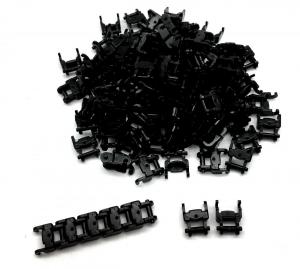 Track Link 1 wide, Black (100pcs)