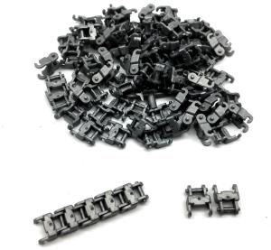 Track Link 1 wide, Dark Silver (100pcs)