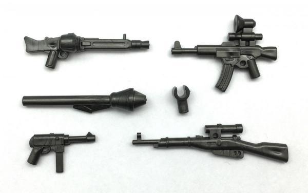 German Gun Set, Met. grey