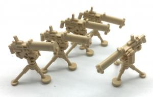 Water cooling Machine Gun, Desert Beige (5 x)