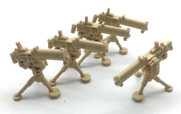 Water cooling Machine Gun, Desert Beige (5 x)