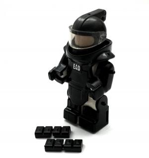 SWAT Armor, Black (without Minifigure)