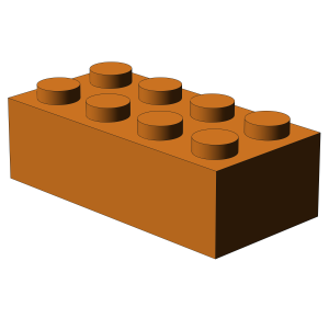 500 pcs 2x4 brick, orange | 500x No. 3001  BRICK 2X4, Bright Orange