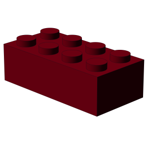 500 pcs 2x4 brick, Dark Red | 500x No. 3001 Bricks 2x4 Dark Red