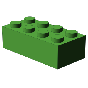 500 pcs 2x4 brick, Bright Green | 500x No. 3001  BRICK 2X4, Bright Green