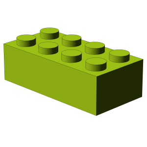 500 pcs 2x4 brick, Lime | 500x No. 3001  BRICK 2X4, Bright Yellowish Green