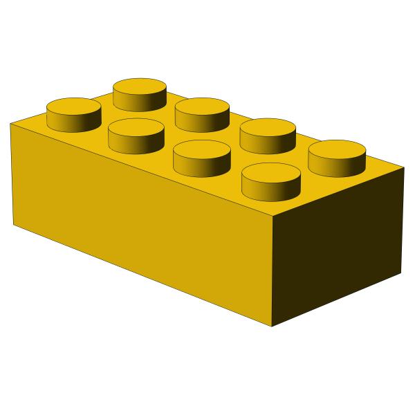 500 Stück, 2x4 Stein, Gelb