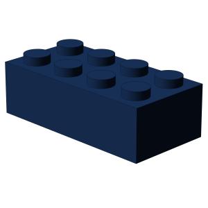 500 pcs 2x4 brick, Dark Blue | 500x No. 3001  BRICK 2X4, Earth Blue