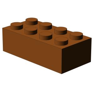 500 pcs 2x4 brick, Dark Orange