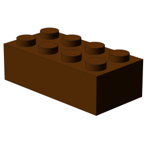 500 pcs 2x4 brick, Reddish Brown