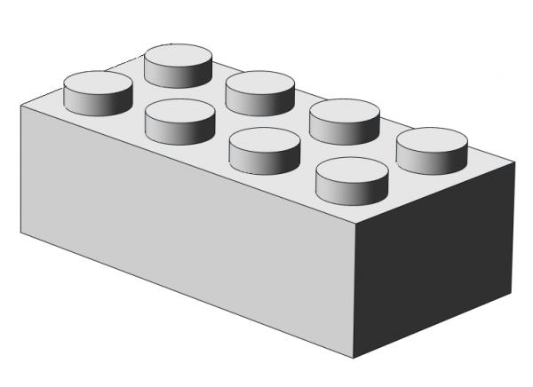 500 pcs 2x4 brick, White