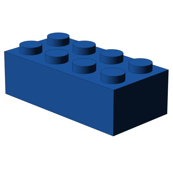 500 Stück, 2x4 Stein, Blau