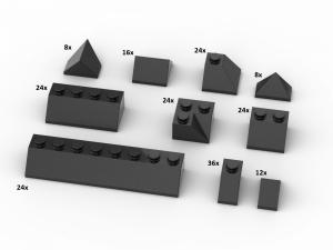 200 pcs, Roof Slopes, mixed, Black