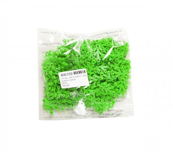 150 pcs, LIMB ELEMENT, SMALL, Bright Green