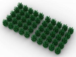 50 pcs, BUSH, green