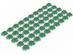 50 pcs,  FINGER LEAF, Green