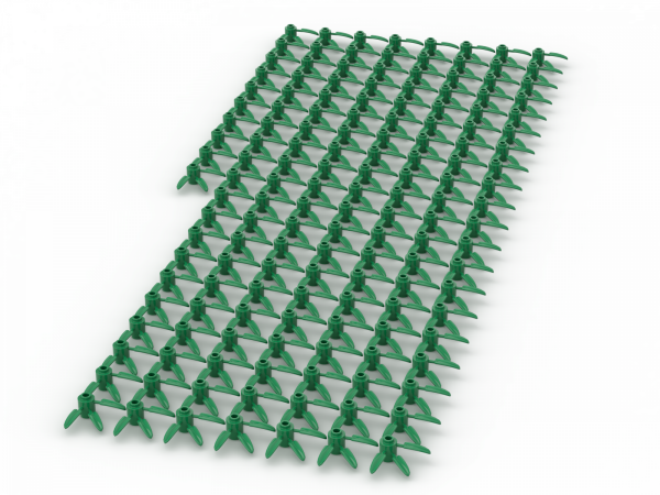 150 Stück, BAMBOO LEAVES 3X3, Green
