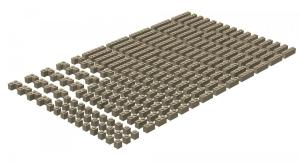 200 pcs, 1wide bricks, mixed, Dark Tan
