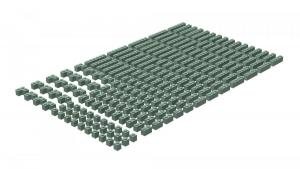 200 pcs, 1wide bricks, mixed, Sand Green