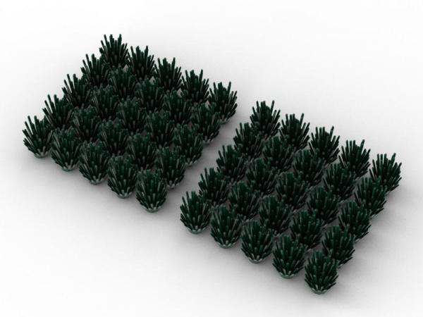 50 pcs, BUSH, Dark Green