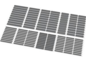 Lange Plates, gemischt, hellgrau (Light Bluish Gray)