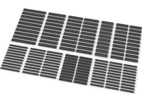 Long Plates, mixed, Dark Bluish Gray
