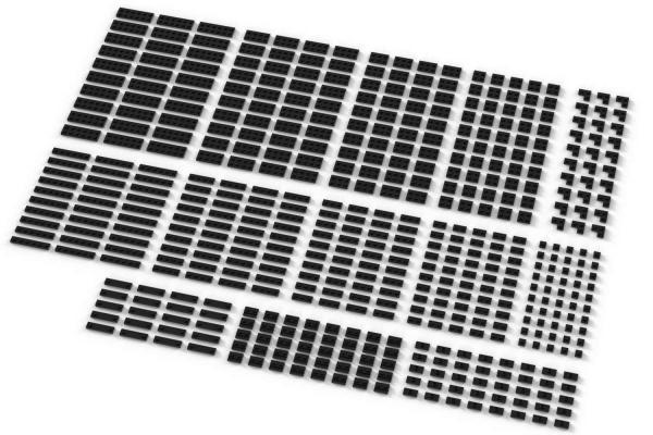 Kleine Plates, gemischt, schwarz