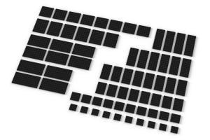 Große Plates, gemischt, schwarz